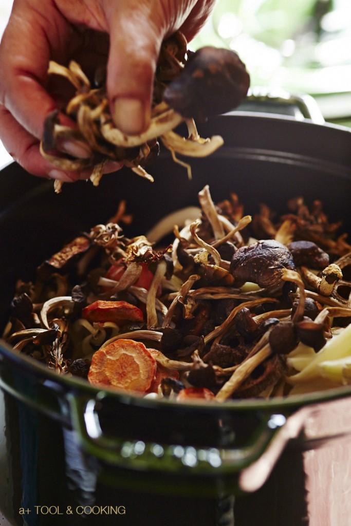 干し野菜の芋煮とキャベツのスチーム
