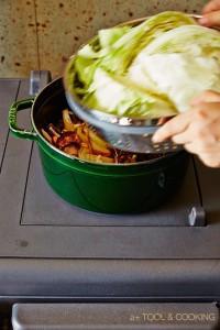 干し野菜の芋煮とキャベツのスチームの作り方