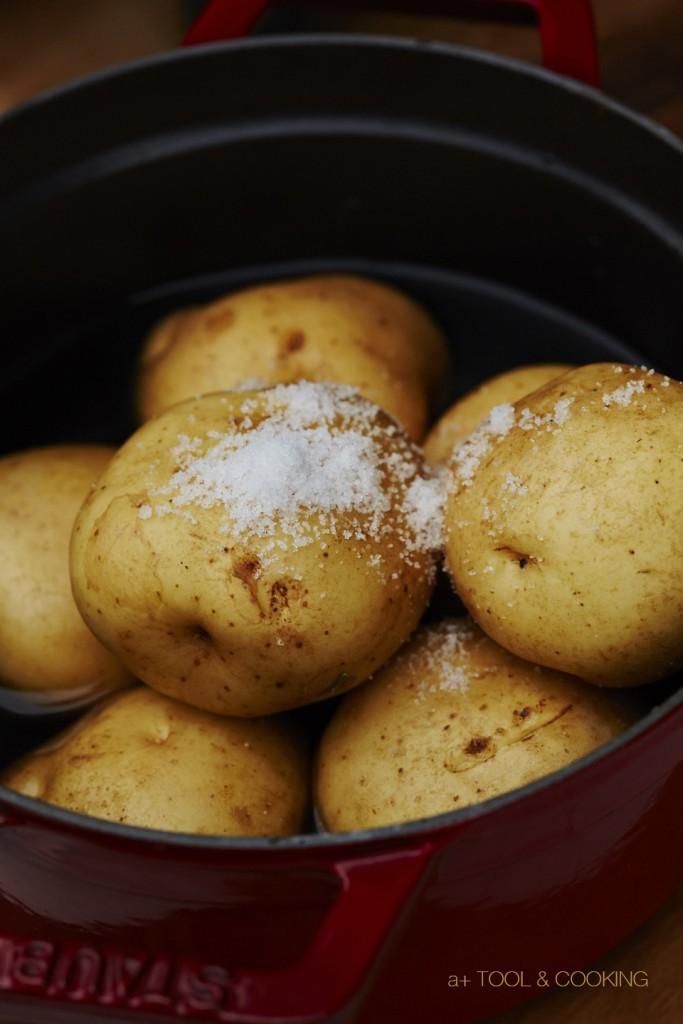 ジャガイモのシンプル塩蒸し