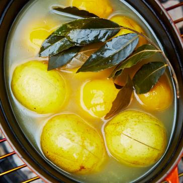 薪ストーブ 塩レモン