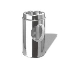 断熱二重煙突。アウターケーシングとインナーライナーの間に、断熱材が充填されている。