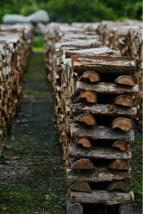 薪の乾燥・保管方法