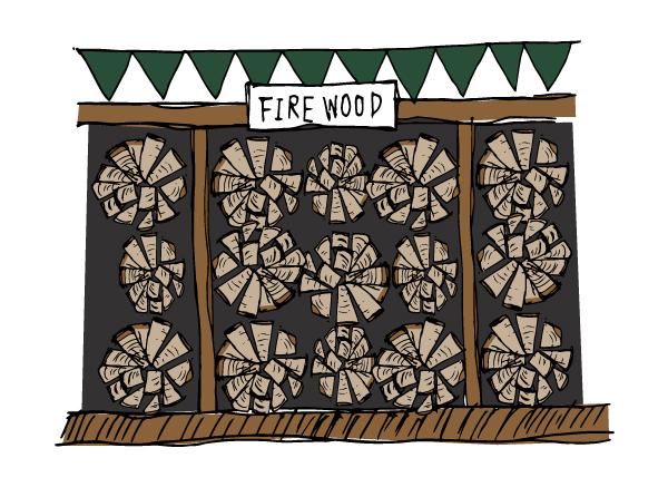 薪の販売店