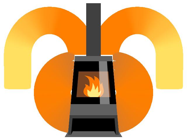 輻射熱と対流、この2つの仕組みを使っているから薪ストーブは暖かいのです。